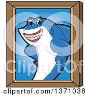 Shark School Mascot Character Portrait