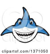 Clipart Of A Shark School Mascot Character Royalty Free Vector Illustration by Toons4Biz