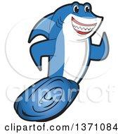 Shark School Mascot Character Running