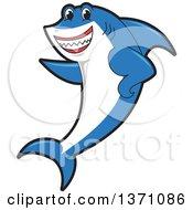 Shark School Mascot Character Pointing