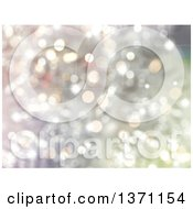 Clipart Of A Christmas Background Of Bokeh Flares Royalty Free Illustration