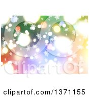 Clipart Of A Christmas Background Of Snowflakes And Bokeh Flares Royalty Free Illustration