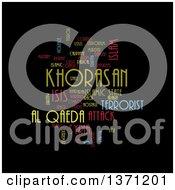 Colorful Khorasan Isis And Al Qaeda Word Tag Collage On Black