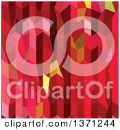 Clipart Of An Abstract Geometric Background In Cardinal Red Royalty Free Vector Illustration by patrimonio