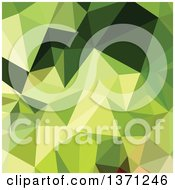 Clipart Of A Low Poly Abstract Geometric Background In Electric Lime Green Royalty Free Vector Illustration by patrimonio