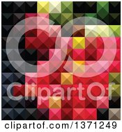 Clipart Of An Abstract Geometric Background In Amaranth Red Royalty Free Vector Illustration by patrimonio