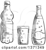 Glass Of Water Clipart Black And White