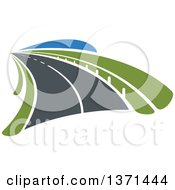 Clipart Of A Highway Road Royalty Free Vector Illustration by Vector Tradition SM