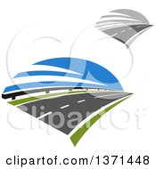 Clipart Of Highway Roads Royalty Free Vector Illustration