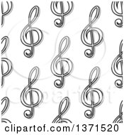 Clipart Of A Seamless Background Pattern Of Black And White Music Notes Royalty Free Vector Illustration