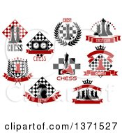 Clipart Of Chess Designs And Text Royalty Free Vector Illustration
