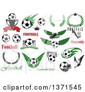 Soccer Sports And Text Designs