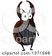Clipart Of A Cartoon Happy Stag Beetle Royalty Free Vector Illustration by Vector Tradition SM
