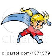 Flying Blond White Super Hero Girl