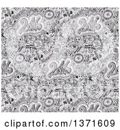 Clipart Of A Doodled New Year 2016 Background Royalty Free Illustration