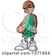 Black Boy Holding A Basketball