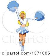 Blond White Female Cheerleader