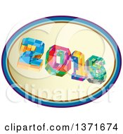 Clipart Of A Colorful Low Polygon Geometric 2016 New Year In An Oval Royalty Free Vector Illustration by patrimonio