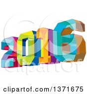 Clipart Of A Colorful Geometric 2016 New Year Low Angle View Royalty Free Vector Illustration by patrimonio