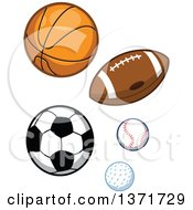 Clipart Of Sports Balls Royalty Free Vector Illustration by Clip Art Mascots