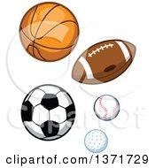 Poster, Art Print Of Sports Balls