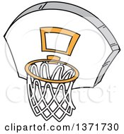 Clipart Of A Basketball Hoop Royalty Free Vector Illustration
