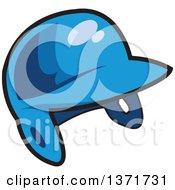 Poster, Art Print Of Blue Baseball Batters Helmet