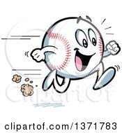Poster, Art Print Of Happy Energetic Baseball Character Running