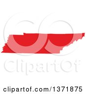 Clipart Of A Republican Political Themed Red Silhouetted Shape Of The State Of Tennessee USA Royalty Free Vector Illustration by Jamers