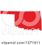 Republican Political Themed Red Silhouetted Shape Of The State Of Oklahoma USA