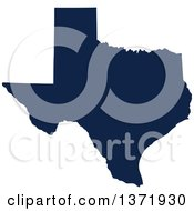 Democratic Political Themed Navy Blue Silhouetted Shape Of The State Of Texas USA
