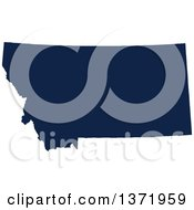 Democratic Political Themed Navy Blue Silhouetted Shape Of The State Of Montana USA