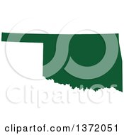 Clipart Of A Dark Green Silhouetted Map Shape Of The State Of Oklahoma United States Royalty Free Vector Illustration by Jamers