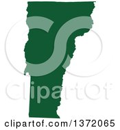 Clipart Of A Dark Green Silhouetted Map Shape Of The State Of Vermont United States Royalty Free Vector Illustration by Jamers
