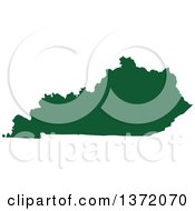 Clipart Of A Dark Green Silhouetted Map Shape Of The State Of Kentucky United States Royalty Free Vector Illustration by Jamers