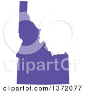 Clipart Of A Purple Silhouetted Map Shape Of The State Of Idaho United States Royalty Free Vector Illustration