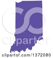 Clipart Of A Purple Silhouetted Map Shape Of The State Of Indiana United States Royalty Free Vector Illustration by Jamers