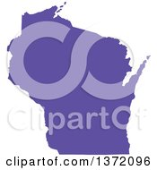 Clipart Of A Purple Silhouetted Map Shape Of The State Of Wisconsin United States Royalty Free Vector Illustration by Jamers