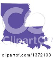Clipart Of A Purple Silhouetted Map Shape Of The State Of Louisiana United States Royalty Free Vector Illustration by Jamers