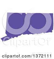 Clipart Of A Purple Silhouetted Map Shape Of The State Of Connecticut United States Royalty Free Vector Illustration
