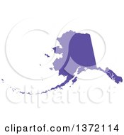 Clipart Of A Purple Silhouetted Map Shape Of The State Of Alaska United States Royalty Free Vector Illustration
