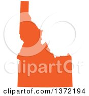 Clipart Of An Orange Silhouetted Map Shape Of The State Of Idaho United States Royalty Free Vector Illustration by Jamers