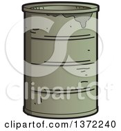 Clipart Of A Dirty Oil Barrel Royalty Free Vector Illustration