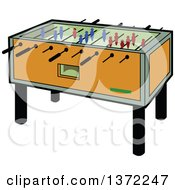 Clipart Of A Foosball Table Royalty Free Vector Illustration