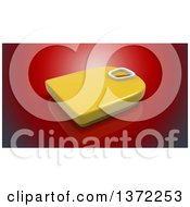 Clipart Of A 3d Body Weight Scale On A Red Background Royalty Free Illustration by Julos