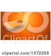 Clipart Of A 3d Body Weight Scale On An Orange Background Royalty Free Illustration