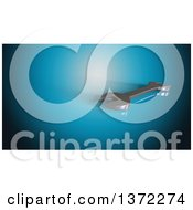 Clipart Of A 3d Spanner Wrench On A Blue Background Royalty Free Illustration by Julos