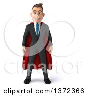 Clipart Of A 3d Super White Business Man On A White Background Royalty Free Illustration
