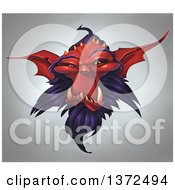 Clipart Of A Red Demonic Head Over Gradient Royalty Free Illustration by Tonis Pan