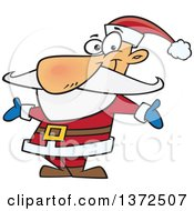 Christmas Santa Claus Welcoming With Open Arms